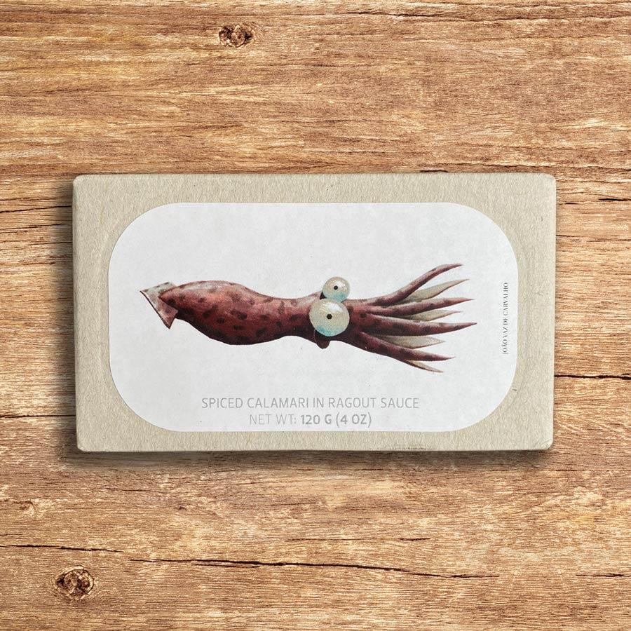 fish and co - Jose gourmet spiced calamari in ragout sauce 120g