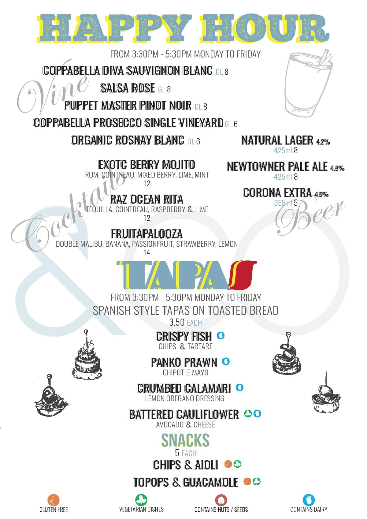 fish and co 2021 drinks Wines Happy Hour p4